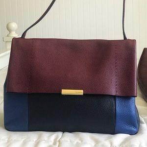 Ted Baker bag NWOT blue and magenta leather